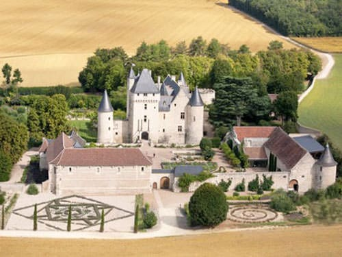 Aerial view of the Chateau du Rivau