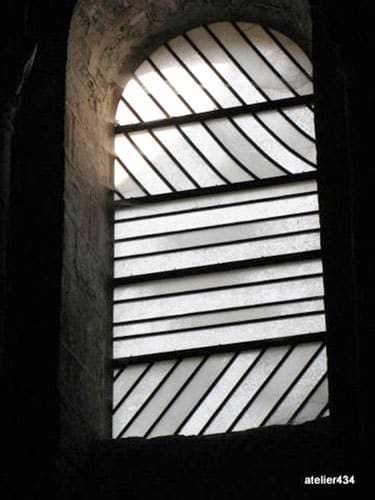 Conques Abbey church's window by Soulanges