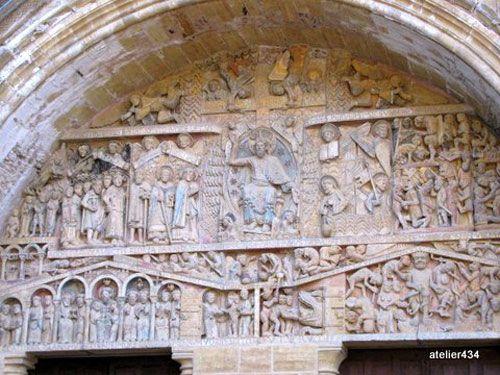 Conques - Abbey church tympanum