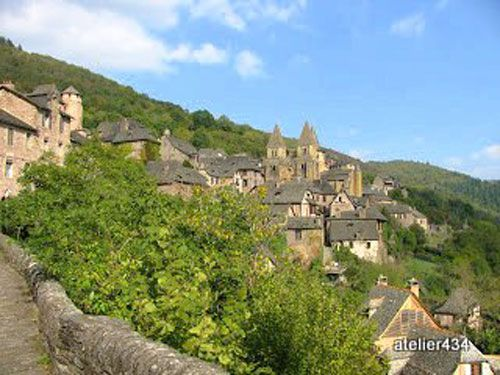Village and abbey of Conques