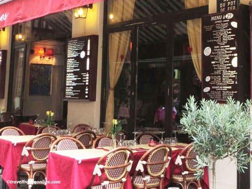 Paris 10th district - Cafe terrace