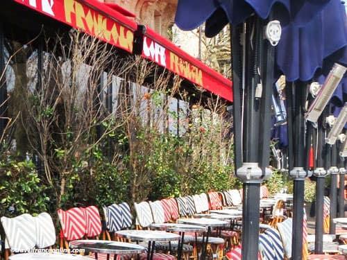 Paris 16th district cafe terrace