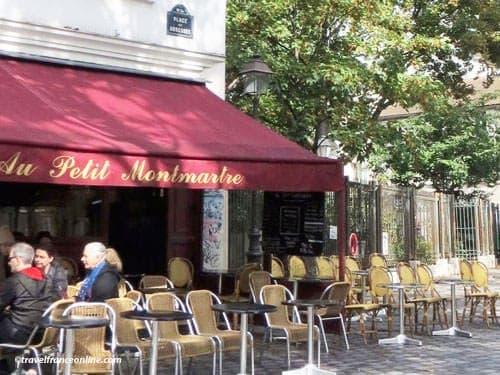 Paris 18th district - Cafe terrace - France