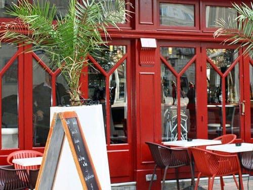 Paris 20th district cafe terrace