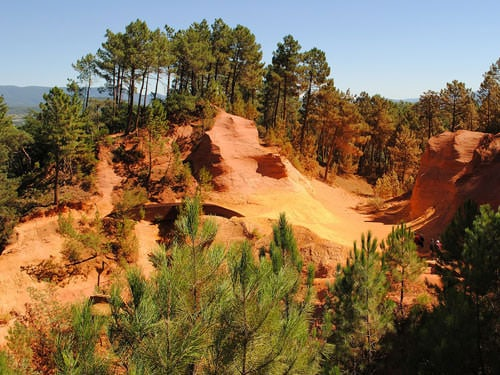 Ocher deposits in Roussillon
