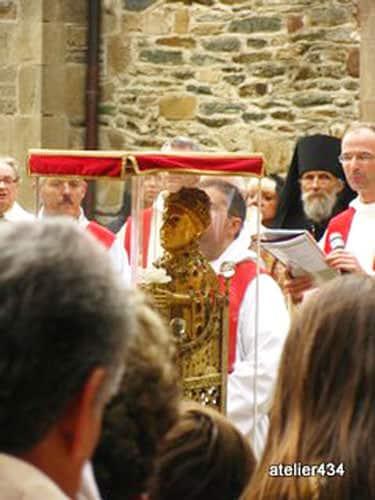 Sainte Foy Feast Day - procession