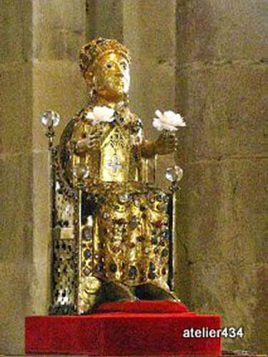 Sainte Foy statuette in Conques