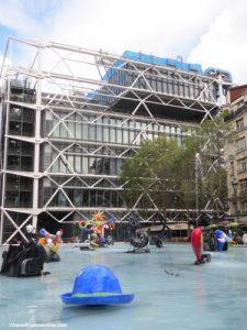 Stravinsky Fountain and Centre Pompidou