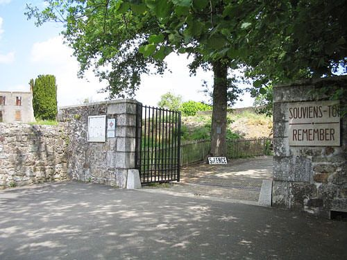 Entrance to Oradour-sur-Glane