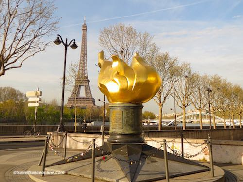 Princess Diana memorial - Flame of Liberty in Paris