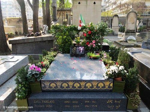 Cimetiere de Passy - Leila Pahlavi's grave