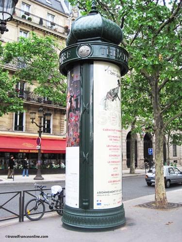 Morris column on Boulevard Saint-Michel