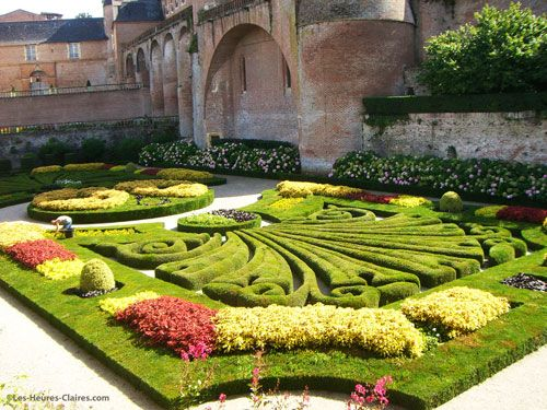 Bishop palace's former gardens in Albi