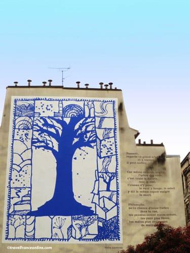 L'Arbre Bleu and poem
