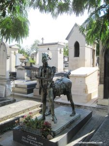 Montparnasse Cemetery - Cesar Baldacci's grave
