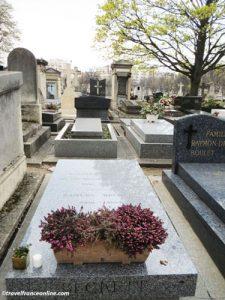 Montparnasse Cemetery - Samuel Beckett's grave