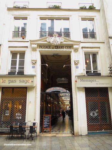 Passage du Grand Cerf entrance on Rue St-Denis