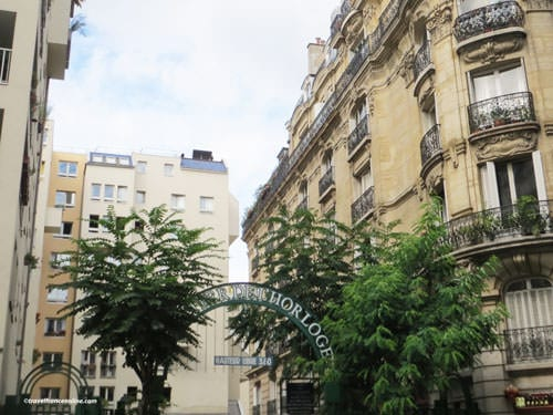 Quartier de l'Horloge - One of the entrances on Rue Beaubourg