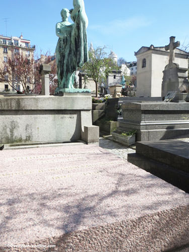Arthur Honegger's grave in Saint-Vincent Cemetery
