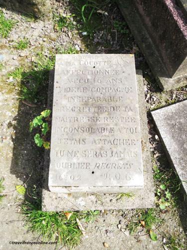 Cimetiere des Chiens - Cocotte's grave