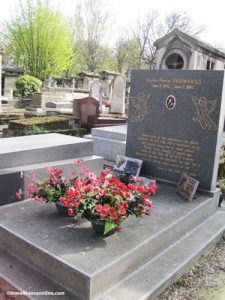 Montmartre Cemetery - Carole Fredericks' grave