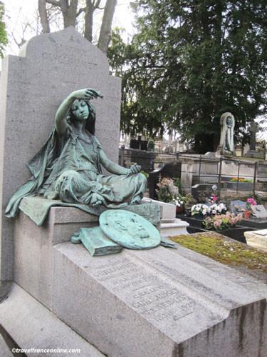 Montmartre Cemetery - Painter Gustave Guillaumet's grave