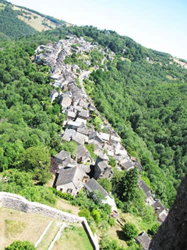 Village seen from the castle of Najac