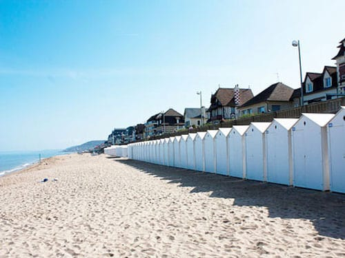 Beach huts in Cabourg