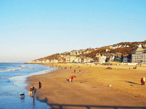 Trouville-sur-Mer sandy beach
