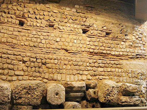 Roman wall in Evreux Museum