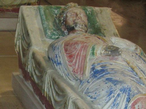 Fontevraud - Recumbent statue of Richard the Lionheart
