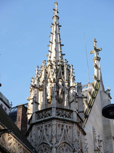 Flamboyant spire of the Cathedral of Rouen
