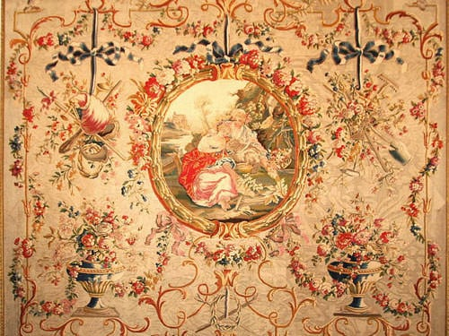 Aubusson Tapestry - From a drawing by Huet - wool - 1786
