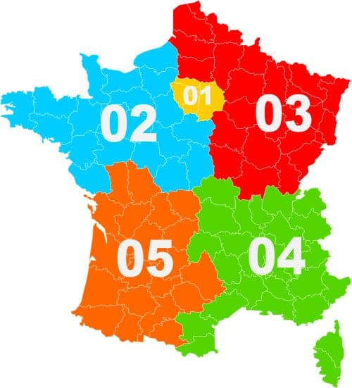 Telephone Area Code system in France