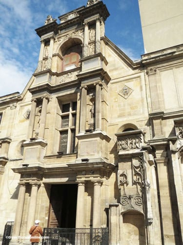 Ecole des Beaux-Arts de Paris - Facade recovered from the Chateau of Anet