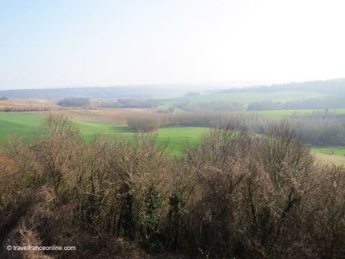 French Colonial troops were positioned in the green field near the Caverne du Dragon