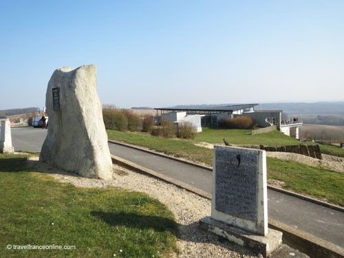 Commemorative steles by the Caverne du Dragon