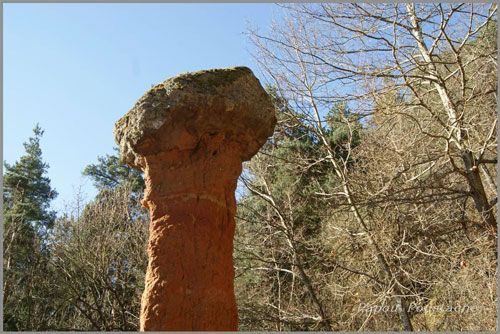 Fairy chimney Cotteuges - Column of clay