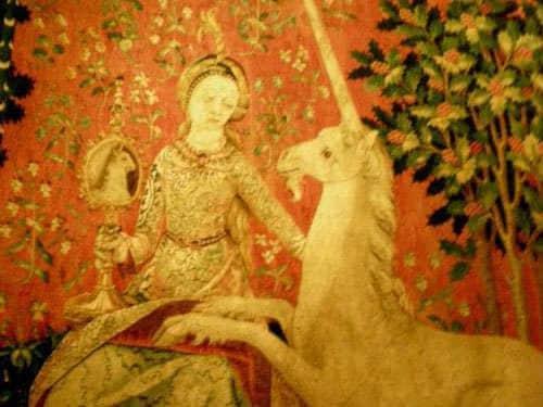 Chateau de Boussac - Lady and the unicorn