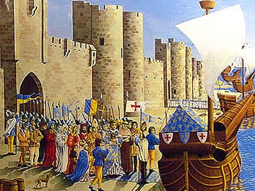 St. Louis leaving from Aigues-Mortes for the 7th Crusade