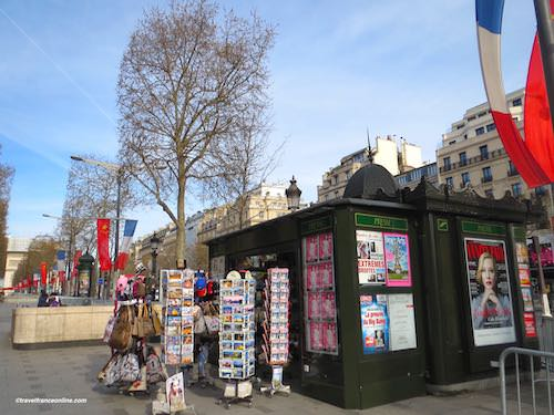 Newspaper kiosks - One on the Champs-Elysees