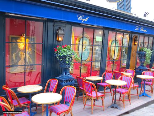 Le Procope terrace in Cour du Commerce Saint Andre