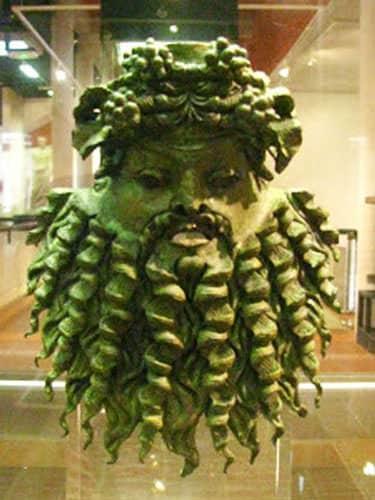 Cemelenum - Bacchus bronze mask