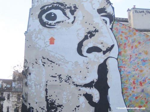 Chuuuttt stencil mural