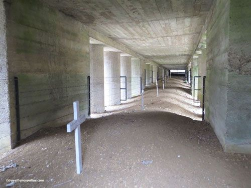 Bayonet Trench in Douaumont near Verdun - Trench protected by the concrete memorial building