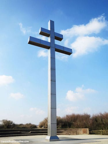 Cross of Lorraine on Juno Beach in Gray-sur-mer