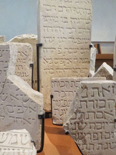 Museum of Art and History of Judaism - Medieval tombstones