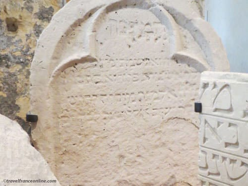 Museum of Art and History of Judaism - Medieval tombstone of Florie