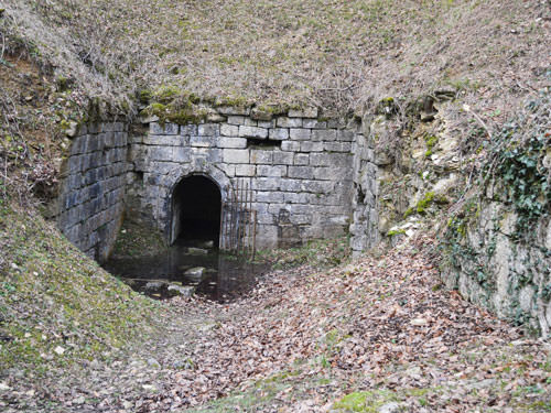 An old access to the underground citadel of Verdun