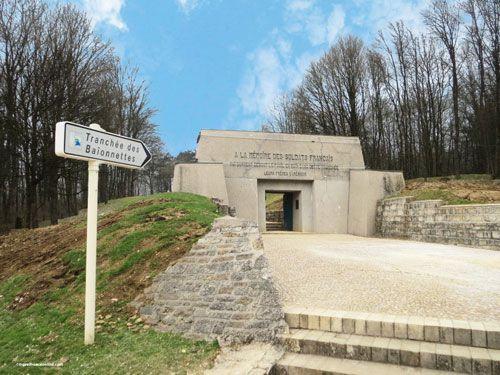 Bayonet Trench in Douaumont near Verdun - Entrance to the Memorial